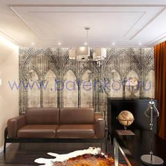 Дизайн проект кабинета квартире на Ботанической.: Рабочие кабинеты в . Автор – Дизайн студия 'Дизайнер интерьера № 1',