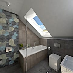 scandinavian Bathroom by EMEMSTUDIO