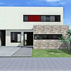 Render fachada frente: Casas de estilo  por epb arquitectura