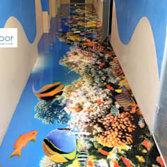 Podłoga 3D w korytarzu: styl , w kategorii Szkoły zaprojektowany przez FotoFloor