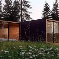 Forest house: Casas de estilo industrial por SF Render