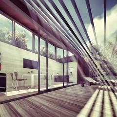 Modelo vivienda 30 M2:  de estilo  por Ecologia Modular Arquitectos