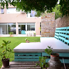 VIVIENDA VP: Jardines de estilo  por epb arquitectura,Moderno