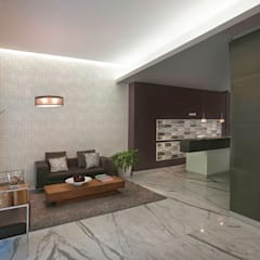 Salones de estilo moderno de ARCO Arquitectura Contemporánea Moderno