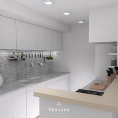 Obra Mendoza - Diseño Integral depto. 2 ambientes: Cocinas de estilo  por Bhavana