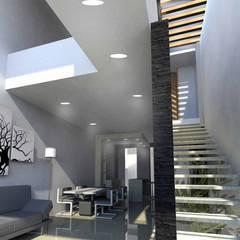 Pasillos, vestíbulos y escaleras modernos de NIVEL SUPERIOR taller de arquitectura Moderno