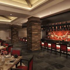 RESTAURANTE ASIATICO en Hyatt ZIva Los Cabos: Hoteles de estilo  por Marisol Tafich, Asiático