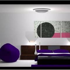 P1: Cuartos de estilo  por Espacio Estudio de Arquitectura, Moderno
