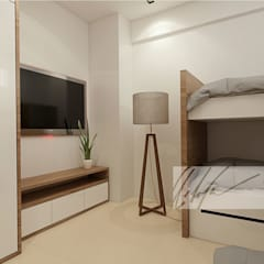 Apartamento de Tucacas: Cuartos de estilo  por Arq.AngelMedina+, Moderno