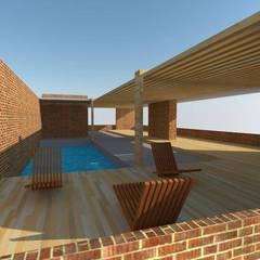 Decks en madera: Piscinas de estilo  por Arquimaderas
