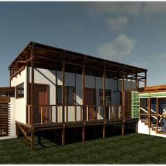 Diseño Casa Cafetera: Casas de estilo  por ClamB Arquitectura, Rústico