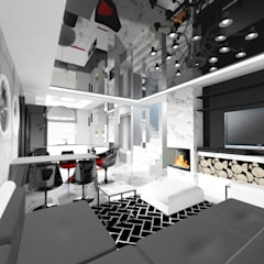 Living room by IDEALNIE Pracownia Projektowa, Modern