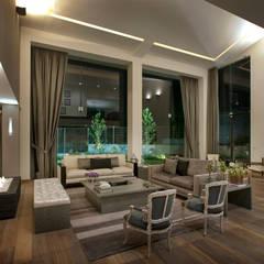 Casa LC: Salas de estilo  por ARCO Arquitectura Contemporánea