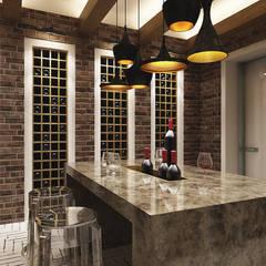 A-partmentdesign studio: minimal tarz tarz Şarap Mahzeni