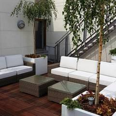 taras: styl , w kategorii Dach płaski zaprojektowany przez Ogrodowa Sceneria