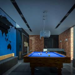 Gameroom: styl , w kategorii Pokój multimedialny zaprojektowany przez Justyna Kurtz