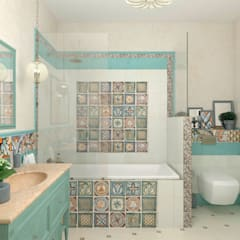 """Ванная комната """"Acquamarina"""": Ванные комнаты в . Автор – Студия дизайна Дарьи Одарюк"""