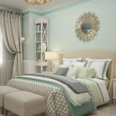 """Спальня """"Sole"""": Спальни в . Автор – Студия дизайна Дарьи Одарюк, Средиземноморский"""