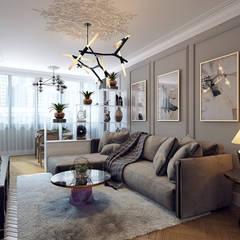 Мебельная улица: Гостиная в . Автор – Дарья Баранович Дизайн Интерьера