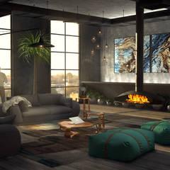 Loft: Salas de estar  por Tiago Martins - 3D