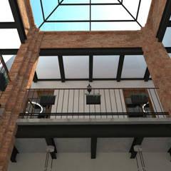 Conjunto Parroquial San Diego De Alcala: Pasillos y recibidores de estilo  por Taller Esencia
