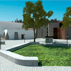 Conjunto Parroquial San Diego De Alcala: Jardines de estilo colonial por Taller Esencia