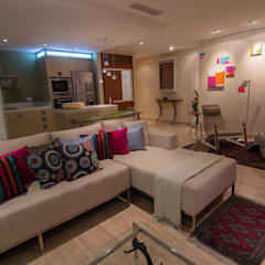 Apartamento B24: Salas / recibidores de estilo  por TRIBU ESTUDIO CREATIVO