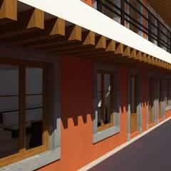 Ampliacion Nopalucan: Pasillos y recibidores de estilo  por Taller Esencia
