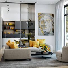 Дом мечты: Гостиная в . Автор – PRIVALOV design
