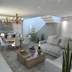 Sala de Estar: Salas de estar  por Studio M Arquitetura