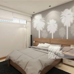 Apartamento Tucacas.: Cuartos de estilo  por Arq.AngelMedina+, Minimalista Madera Acabado en madera