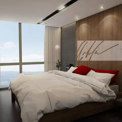 Hotel Multicentro Vinedo: Cuartos de estilo  por Arq.AngelMedina+, Minimalista Madera Acabado en madera