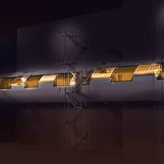 HCG -SERVICE BRIDGE:  Corridor & hallway by TECHNO ARCHITECTURE .INC