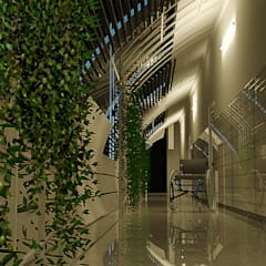 .---:  Corridor & hallway by TECHNO ARCHITECTURE .INC