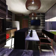 Imagem 02: Garagens e edículas modernas por Vivi Arquitetura & Decoração