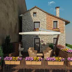 Casa in Collina: Terrazza in stile  di studiosagitair
