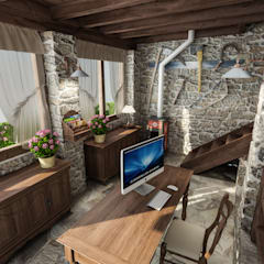 Casa in Collina: Studio in stile  di studiosagitair
