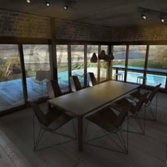 Brick House : Comedores de estilo  por ZUM ARQUITECTURA