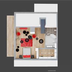 Rzut Piętra: styl , w kategorii Taras zaprojektowany przez Ale design Grzegorz Grzywacz