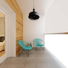 Stonowane mieszkanie 45m2 w Dąbrowie Górniczej : styl , w kategorii Taras zaprojektowany przez Ale design Grzegorz Grzywacz