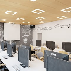 Sala zajęć w betonie: styl , w kategorii Pokój multimedialny zaprojektowany przez Ale design Grzegorz Grzywacz