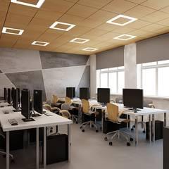 Sala dydaktyczna z betonem: styl , w kategorii Ściany zaprojektowany przez Ale design Grzegorz Grzywacz