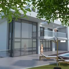 Casas de estilo mediterráneo de DYOV STUDIO Arquitectura, Interiorismo José Sánchez Vélez 653 77 38 06 Mediterráneo Caliza