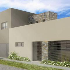 Después l Fachada Principal: Casas de estilo minimalista por Casa Meva Estudio