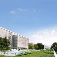 Ministerio Salud de la Ciudad de Buenos Aires (Nueva Sede): Terrazas de estilo  por 1.61 Arquitectos
