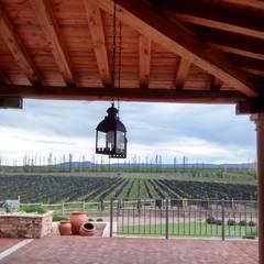Vivienda en Algodon Wine Estates - Lote E12: Terrazas de estilo  por Azcona Vega Arquitectos