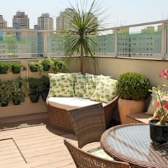 Tropical style balcony, porch & terrace by Paty Nascimento Designer de Interiores e Paisagista Tropical