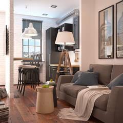 Scandinavian flat: Гостиная в . Автор – GM-interior