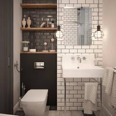 Scandinavian flat Ванная комната в скандинавском стиле от GM-interior Скандинавский