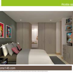 Smarthome 146: Habitaciones de estilo  por AP Construcciones S.A.